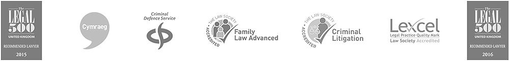 Legal insutary awards and association logos